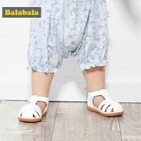 巴拉巴拉婴儿鞋子女宝宝软底防滑男童学步鞋新款夏季包头凉鞋