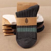 男士秋冬季加厚中筒男袜吸汗全棉中腰保暖潮流长袜运动袜