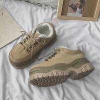 2018冬季新款韩版港味鞋子女运动鞋ulzzang原宿百搭厚底松糕女鞋