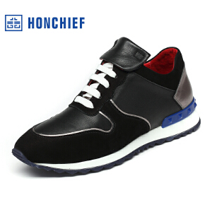 红蜻蜓旗下品牌  HONCHIEF  男鞋休闲鞋秋冬鞋子男板鞋KZA1253