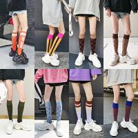 长筒袜子女韩版学院风日系潮流ins个性可爱图案街头薄款中筒夏季