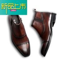 新品上市男士复古男靴靴男手工擦色雕花短靴马丁靴牛津真皮靴