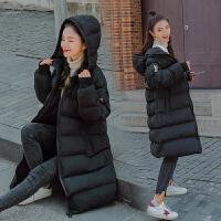 大码棉袄冬装 孕妇棉衣羽绒女中长款怀孕期外套韩版中长款宽松