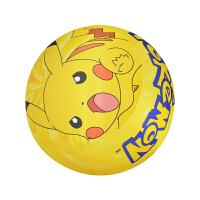 卡通皮球儿童拍拍球充气玩具球3-5-7岁幼儿园大号弹力软球c 姜黄色 皮卡丘