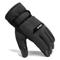 棉手套男士冬季骑车保暖加厚加绒防风防寒防滑摩托车男滑雪手套