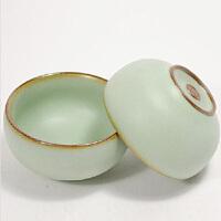 (PU RUN) 陶瓷故事 汝窑开片小圆杯 陶瓷品茶杯 哑光天青釉 30毫升单个价