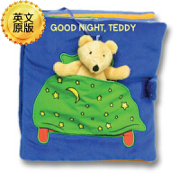 英文原版 英文儿童布书 Good Night, Teddy 晚安,泰迪!布书