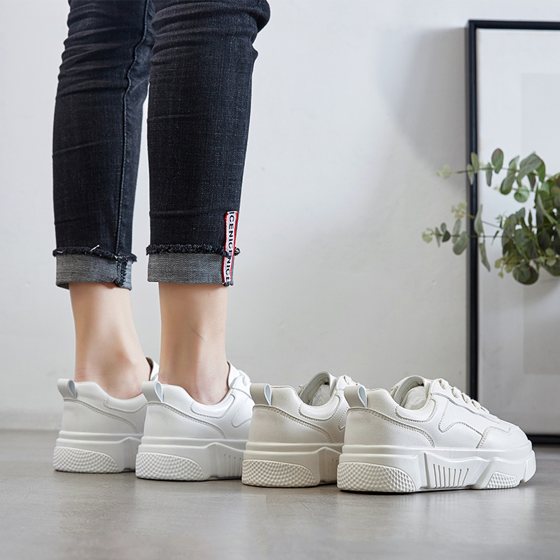 ZHR2019春季新款基础小白鞋韩版百搭休闲鞋平底单鞋山本风女鞋子