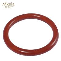 梦克拉 红玛瑙手镯 贵妃 镯子圆柱形 玉髓玛瑙