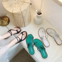 户外拖鞋女外穿时尚百搭ins潮平底夹趾套趾沙滩凉拖鞋
