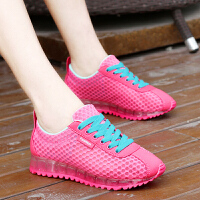 夏季新款透气网鞋厚底运动休闲阿甘鞋女韩版学生单鞋百搭跑步