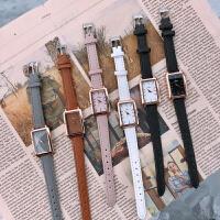 手表女学生韩风简约chic方形小表盘 复古ins气质皮带小清新石英表