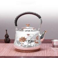 银壶 S999纯银一张打烧水壶纯手工家用银壶日本茶具煮水壶烧水壶纯手工家用银壶茶具煮水壶