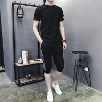 运动套装2019新款短裤男夏男士5分裤夏季服潮流休闲宽松跑步短袖927