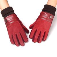加厚新款摩托车棉手套休闲情侣手套百搭加绒保暖男手套
