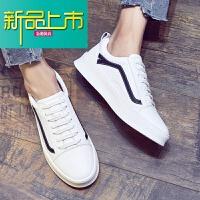 新品上市韩版潮流男鞋19春季板鞋男士休闲鞋内增高小白鞋男厚底鞋子