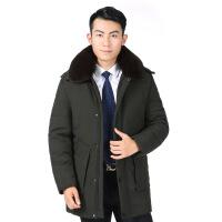 爸爸冬装外套中年棉衣加绒加厚款老爸冬季中老年爷爷男装