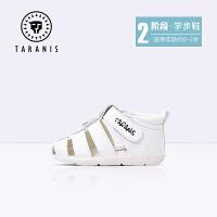 TARANIS 泰兰尼斯童鞋宝宝凉鞋2019夏季新款1-3岁男女婴儿软底包头凉鞋镂空鞋