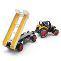 合金工程车拖拉机玩具拖拉机模型拖拉机车模男孩玩具车模金属汽车模型