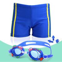 新款男童泳裤儿童平角宝宝泳衣男孩分体泳装中大童泳衣学生游泳裤
