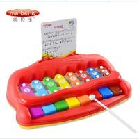 美贝乐欢乐小木琴 敲琴 益智幼儿童手敲琴 婴儿宝宝音乐玩具1-2岁
