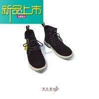 新品上市兔先森秋季复古马丁靴男日系靴子男士潮流靴高帮马丁鞋增高工装靴