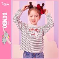 【4折�A估�r:46.4元】迪士尼女童�L袖T恤春秋新款童�b小�w象花��I洋��和�����上衣