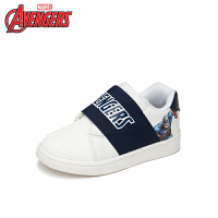 【99元任选3双】迪士尼Disney童鞋18新款儿童运动鞋美国队长学生鞋一脚蹬休闲小白鞋(5-10岁可选)DV0068