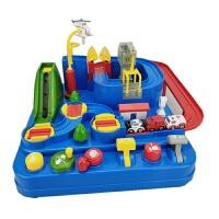 托马斯汽车闯关大冒险轨道停车场抖音玩具2-4岁男孩手动益智礼物