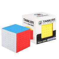 圣手坦克八阶魔方高阶 8阶比赛专用 顺滑磨砂实色免贴纸 益智玩具魔方彩色