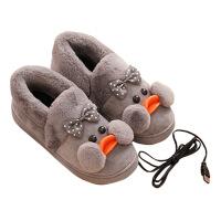 暖脚宝插电加热鞋棉拖鞋电暖鞋保暖脚神器充电可行走女发热鞋