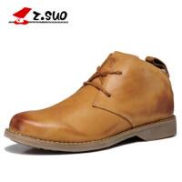 走索高帮复古男鞋工装鞋男靴子男士皮靴英伦马丁靴牛仔短靴军靴潮zs699G