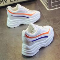 运动鞋女鞋韩版ulzzang休闲鞋超高跟原宿百搭学生鞋内增高小白鞋 白色 A101
