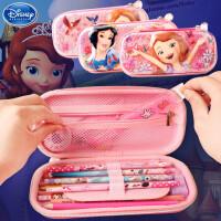 简约铅笔盒文具盒女生笔袋公主苏菲亚大容量笔袋文具盒