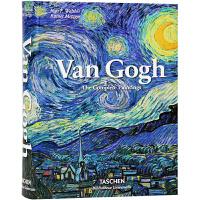【全店满300减80】英文原版 Van Gogh 梵高画册 油画艺术作品鉴赏 精装临摹作品绘画素描集 经典艺术收藏书 向日葵印象画派