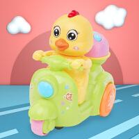 鸡仔婴儿童电动万向带音乐爬行 6-12个月万向摩托车玩具灯光宝宝