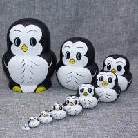 抖音俄罗斯套娃玩具20层10层企鹅中国风木质捡不完可爱娃娃品
