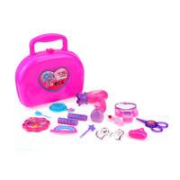 儿童过家家玩具 女孩化妆盒 仿真化妆品玩具套装口红吹风机手提盒