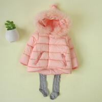 2016冬季新款女宝宝棉衣外套1-2-3-4岁小女童冬装过年衣服厚