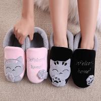 全包跟棉拖鞋女韩版情侣厚底冬季毛毛可爱儿童居家居室内月子棉鞋