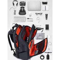 双肩包男多功能商务出差旅行包大容量17寸电脑包休闲书包简约背包