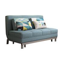 多功能可折叠沙发床单人小户型布艺两用 拆洗1.8米简约布艺沙发1.5 1.5米-1.8米