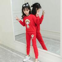 儿童套装 女童卡通长袖卫衣裤子2020春秋装童装学生中大童运动长裤两件套
