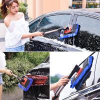 洗车拖把伸缩式多功能刷车刷子长柄软毛汽车拖把车载清洁工具