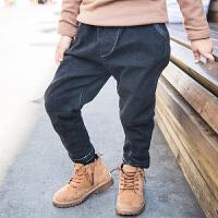 【尾品汇3件3折】帕丁猫童装2018男童冬季新款加绒加厚休闲裤
