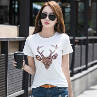 夏装新款韩版刺绣t恤女上衣百搭半袖体恤时尚洋气短袖�B恤女