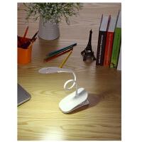 夹子电池台灯卧室床头护眼学生宿舍触摸开关USB可插用能充电宝习