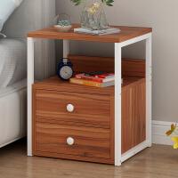 床头柜 现代简约迷你圆形拉手收纳卧室床边柜北欧式现代多功能储物柜子