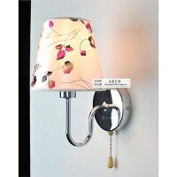 布艺壁灯卧室床头灯壁灯带拉线开关卧室灯工程墙壁灯具灯饰