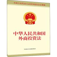 中华人民共和国外商投资法 中国民主法制出版社
